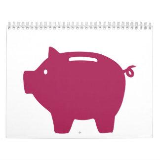 Piggy bank calendar