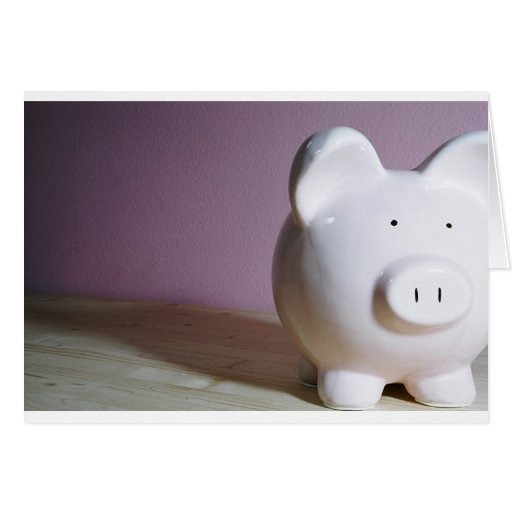 Piggy Bank Greeting Cards