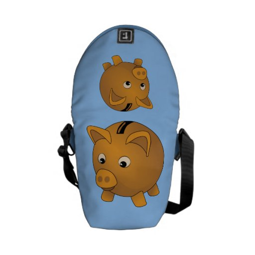Piggy-bank cartoon courier bag