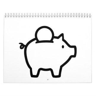 Piggy bank coin calendar