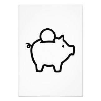 Piggy bank coin personalized invite