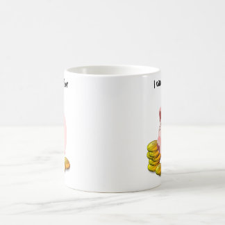 Piggy Bank Coin Slot Top Classic White Coffee Mug