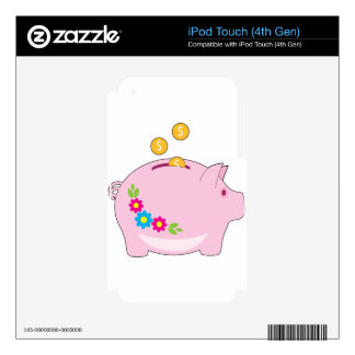 Piggy Bank Decals For iPod Touch 4G