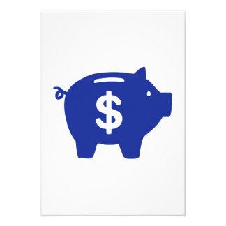 Piggy bank dollar custom invitations