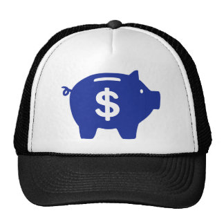 Piggy bank dollar mesh hat
