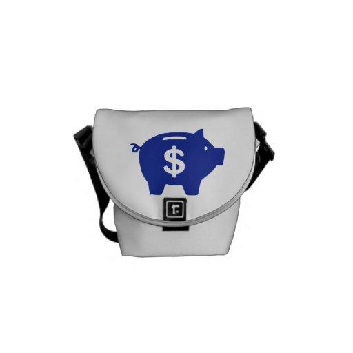 Piggy bank dollar courier bag