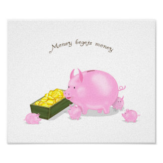 Piggy Bank Family Poster