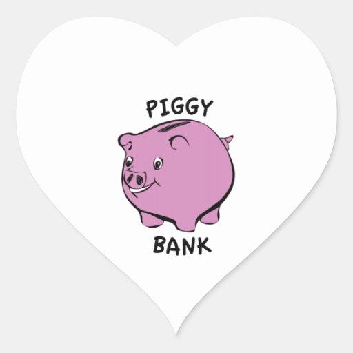 PIGGY BANK HEART STICKER