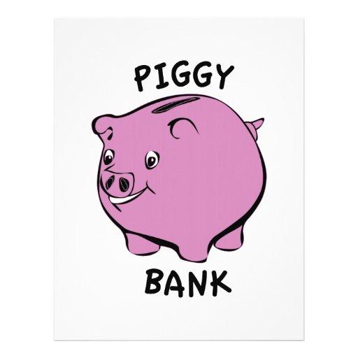 Piggy bank letterhead design for Piggy bank templates