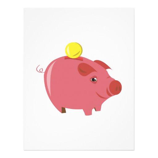 Piggy bank custom letterhead for Piggy bank templates