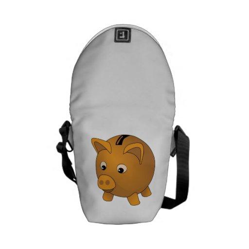 Piggy Bank Courier Bag