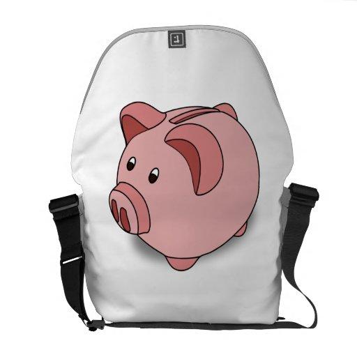 Piggy Bank Messenger Bags