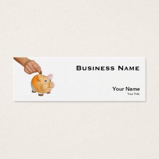 piggy bank mini business card