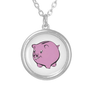 Piggy Bank Personalized Necklace