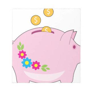 Piggy Bank Note Pad