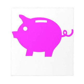 Piggy Bank Notepad