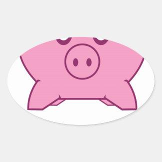 Piggy Bank Oval Sticker