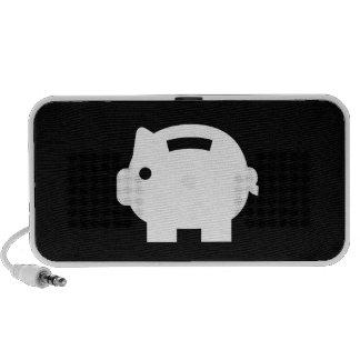 Piggy Bank Pictogram Doodle Speaker