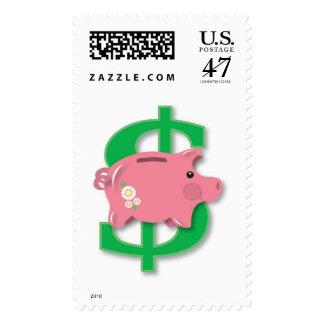 Piggy bank postage