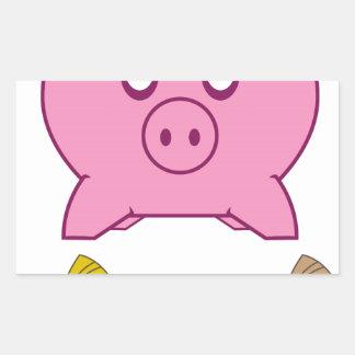 Piggy Bank Rectangular Sticker
