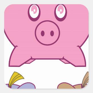 Piggy Bank Square Sticker