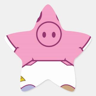 Piggy Bank Star Sticker
