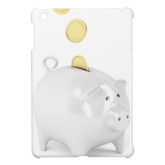 Piggy bank with golden coins cover for the iPad mini