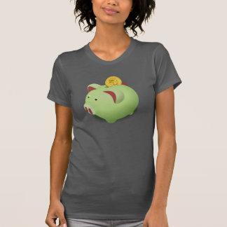 Piggy Bank Womens T-Shirt