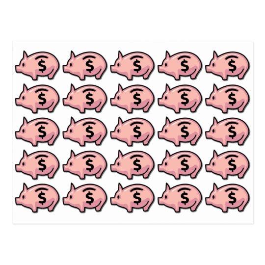 Piggy Banks Postcard