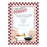 Piggy BBQ Party 5x7 Paper Invitation Card