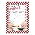 Piggy BBQ Party Personalized Invitation
