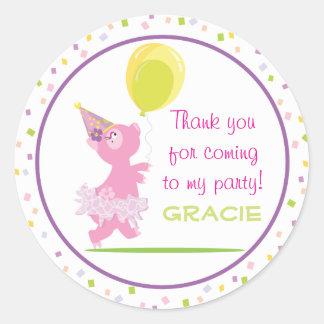 Piggy Birthday Party - Favor Sticker