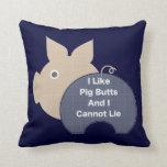 Piggy Butt Throw Pillow