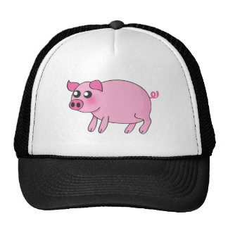 Piggy cap trucker hat