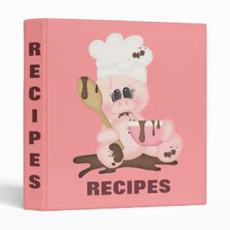 Piggy Chef Recipe Binder
