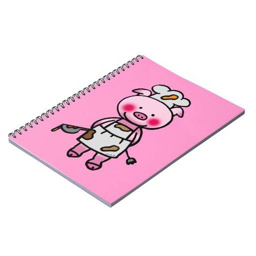 piggy chef spiral note book