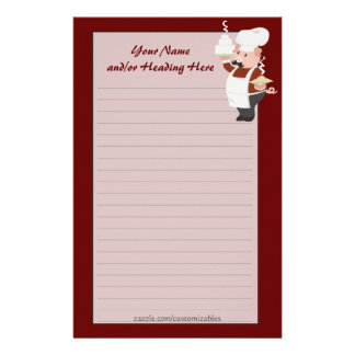 Piggy Chef Stationery