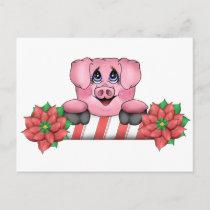 Piggy Christmas Postcard