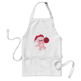 Piggy Christmas Time Adult Apron