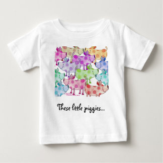 Piggy Collage Baby T-Shirt