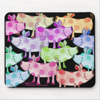 Piggy Collage Mouse Pad