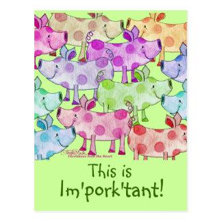 Piggy Collage Postcard