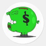 Piggy Collection Classic Round Sticker