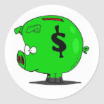 Piggy Collection Round Sticker