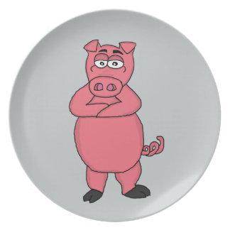 Piggy Dinner Plate