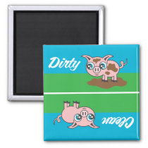 Piggy - Dirty or Clean Magnet