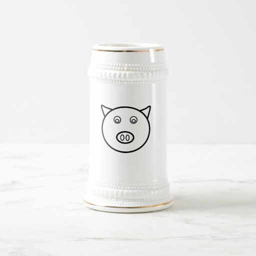 Piggy face mugs