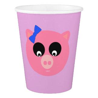 Piggy Face Paper Cup, 9 oz Paper Cup