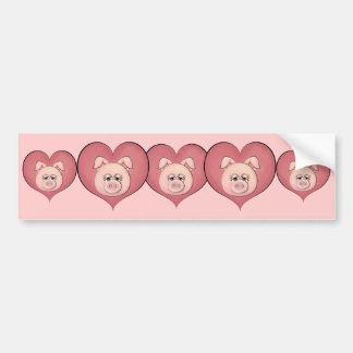 Piggy Face (temp) Car Bumper Sticker