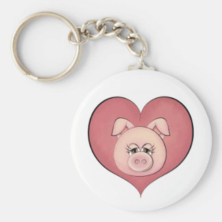 Piggy Face (temp) Keychain